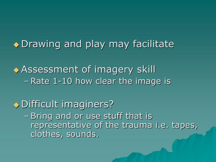 Drawing and play may facilitate