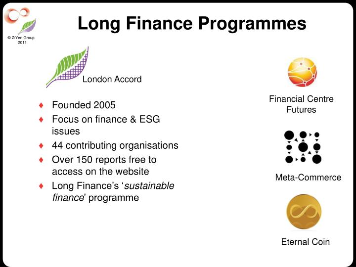 Long Finance Programmes