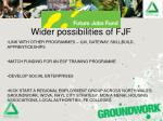 wider possibilities of fjf