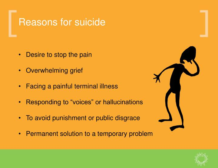Reasons for suicide