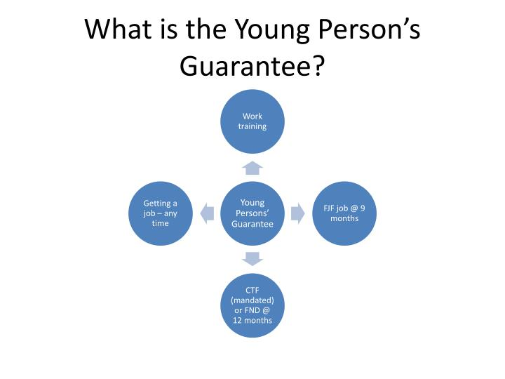 What is the Young Person's Guarantee?