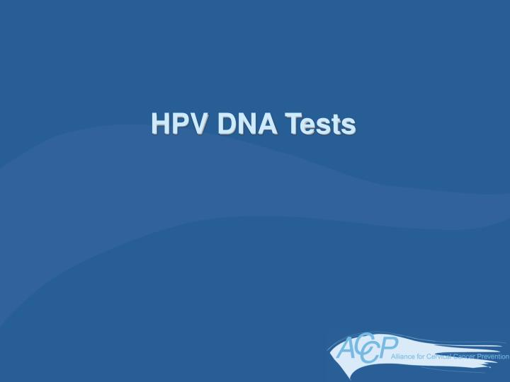 HPV DNA Tests
