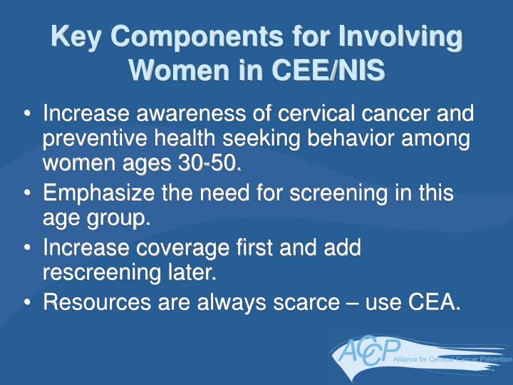 Key Components for Involving Women in CEE/NIS