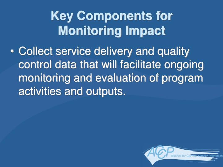 Key Components for Monitoring Impact
