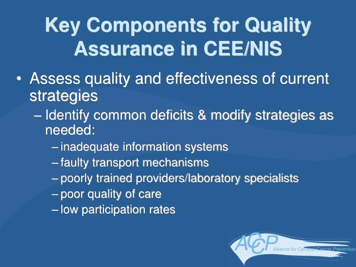 Key Components for Quality Assurance in CEE/NIS