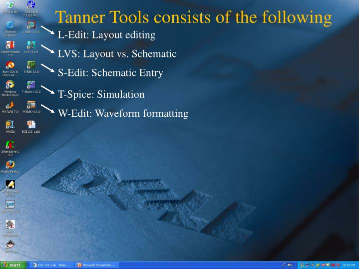 Tanner Tools consists of the following