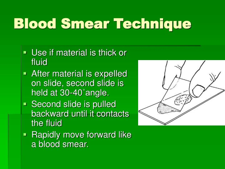 Blood Smear Technique