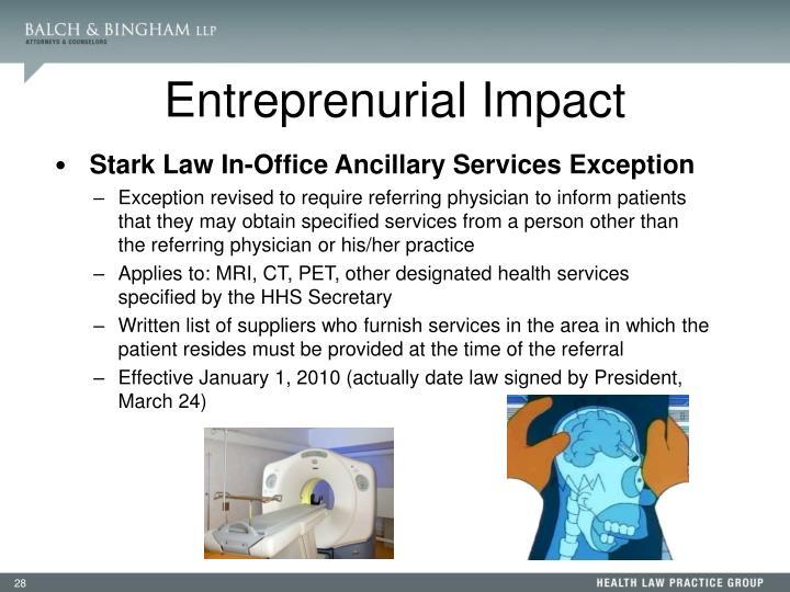 Entreprenurial Impact