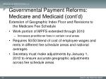 governmental payment reforms medicare and medicaid cont d4