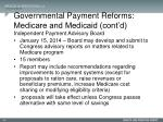 governmental payment reforms medicare and medicaid cont d5