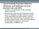 governmental payment reforms medicare and medicaid cont d6