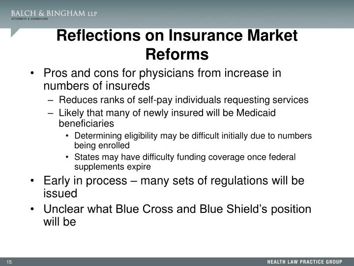 Reflections on Insurance Market Reforms