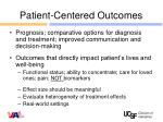 patient centered outcomes1