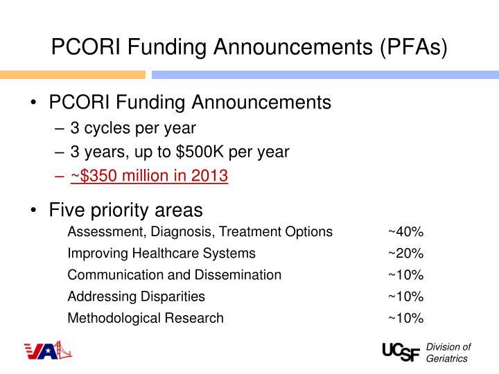 PCORI Funding Announcements (PFAs)