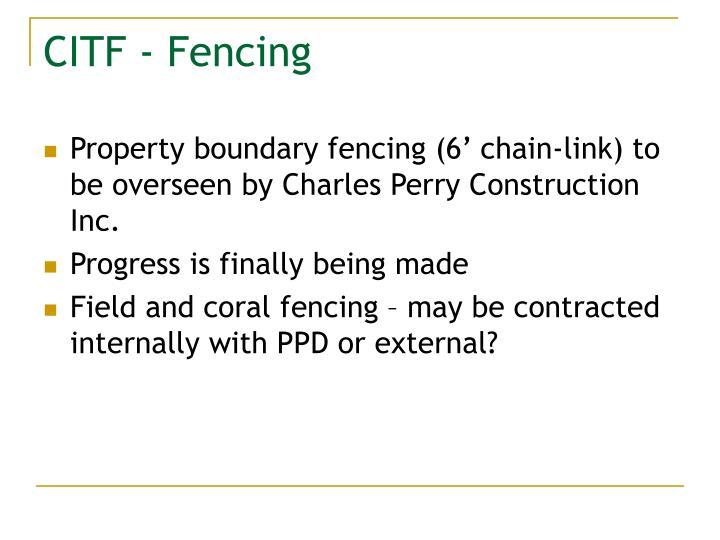 CITF - Fencing