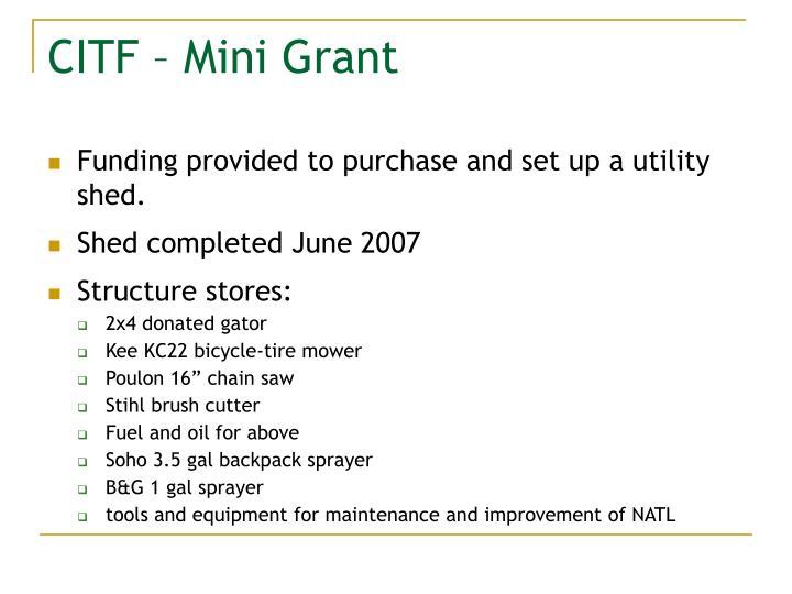 CITF – Mini Grant