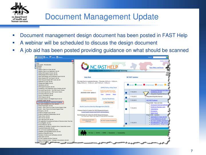 Document Management Update