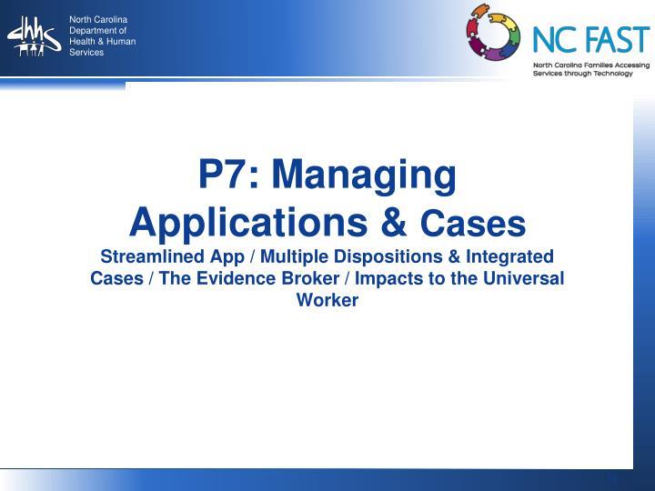 P7: Managing Applications &