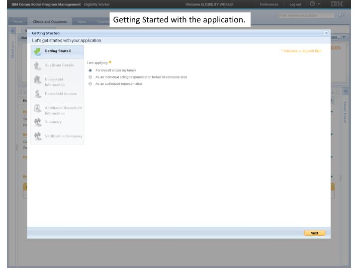 Getting Started with the application.