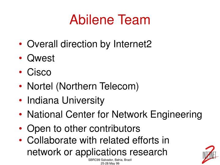 Abilene Team