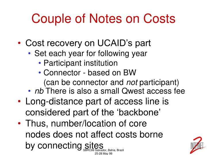 Couple of Notes on Costs