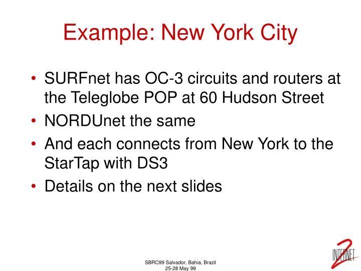 Example: New York City