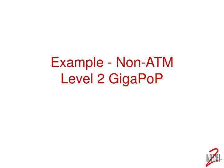 Example - Non-ATM