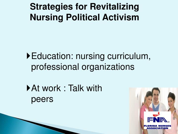 Strategies for Revitalizing Nursing Political Activism