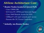 abilene architecture core