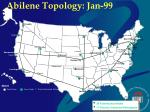 abilene topology jan 99