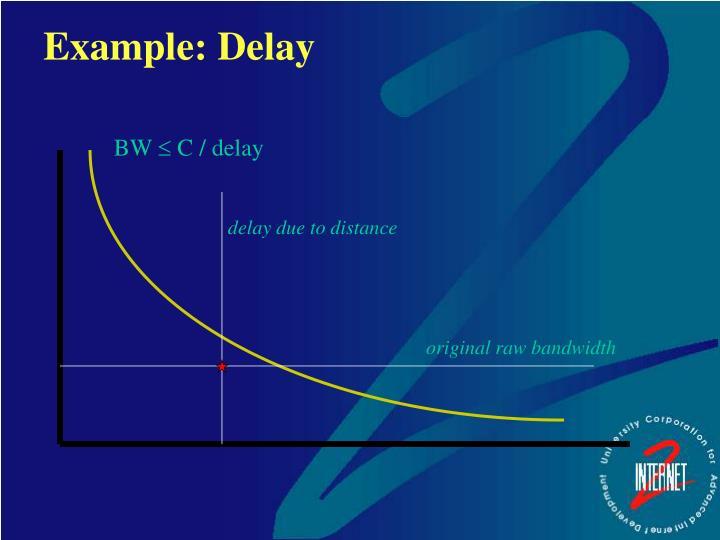 Example: Delay