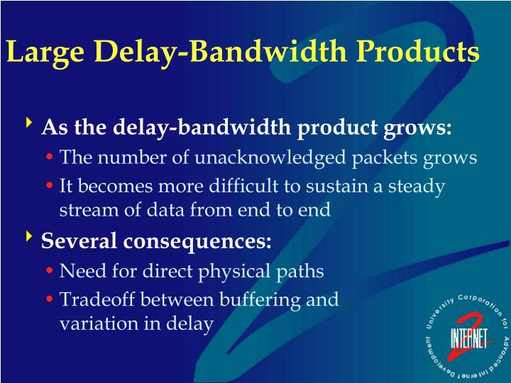 Large Delay-Bandwidth Products