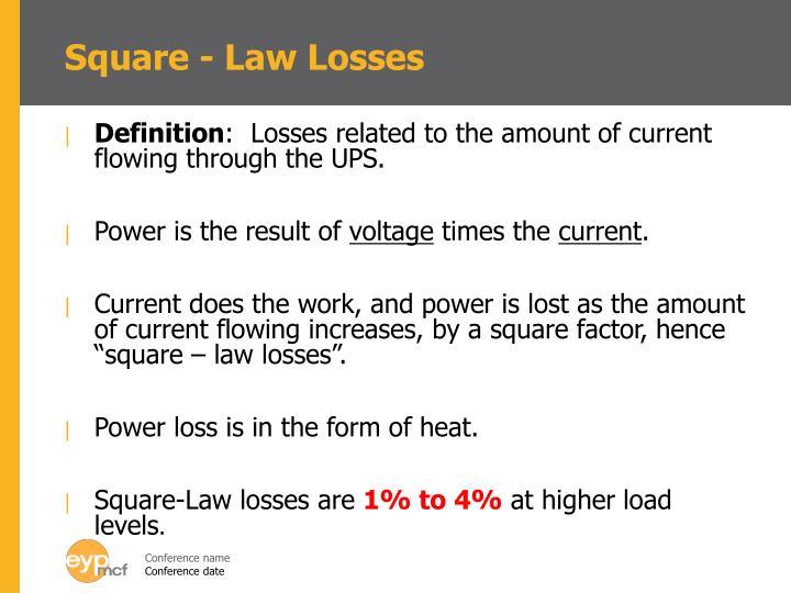 Square - Law Losses
