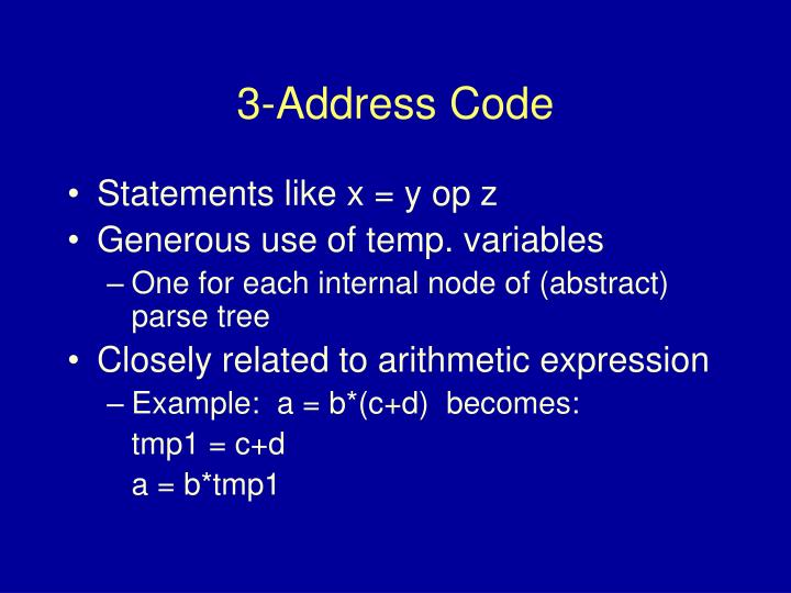 3-Address Code