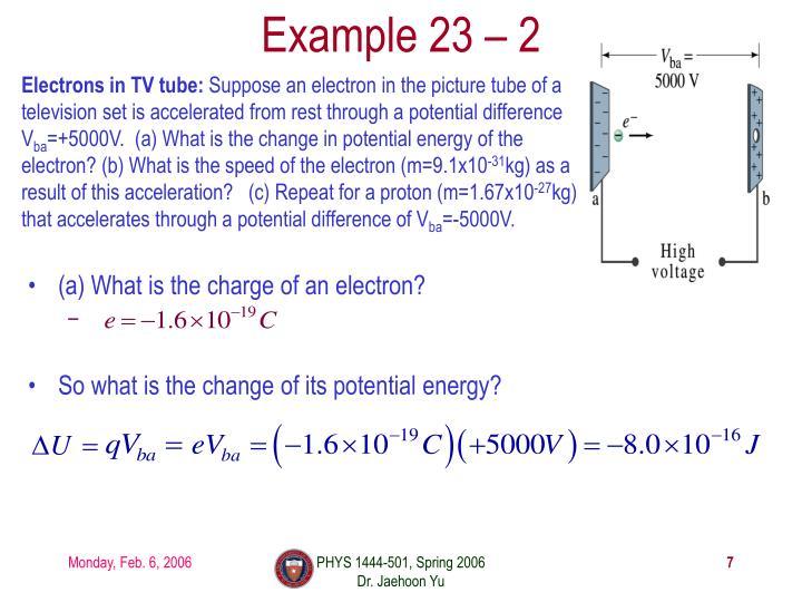 Example 23 – 2