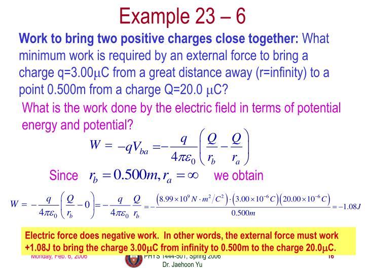 Example 23 – 6