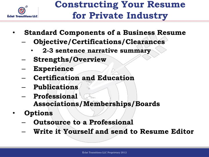 Constructing Your Resume