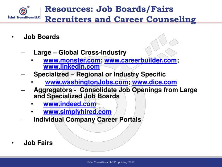Resources: Job Boards/Fairs