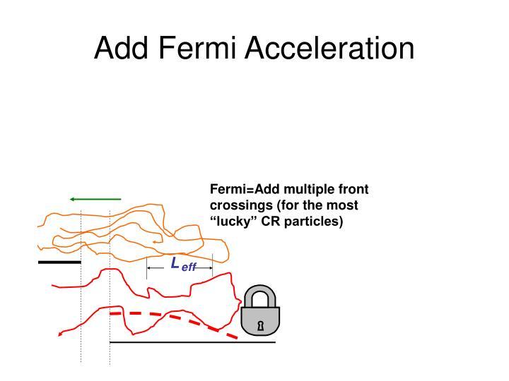 Add Fermi Acceleration