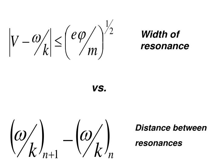 Width of resonance