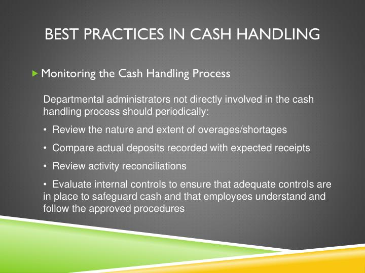 Best Practices in Cash Handling