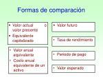 formas de comparaci n