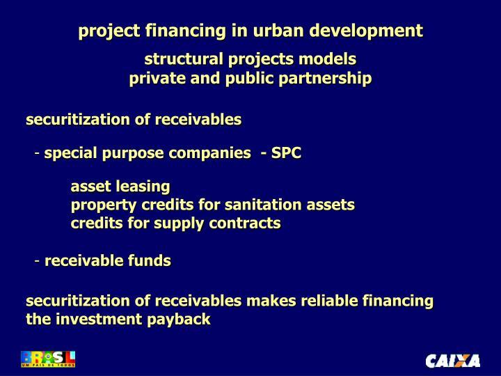 project financing in urban development