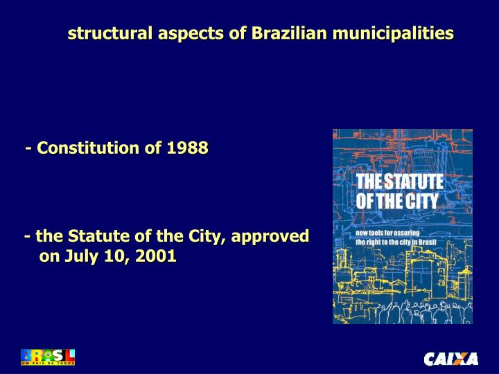 structural aspects of Brazilian municipalities