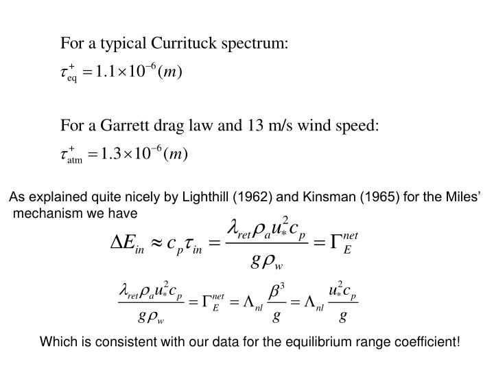 As explained quite nicely by Lighthill (1962) and Kinsman (1965) for the Miles'