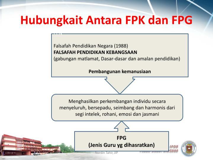 Hubungkait Antara FPK dan FPG