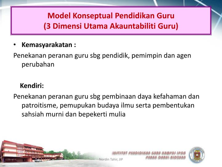 Model Konseptual Pendidikan Guru