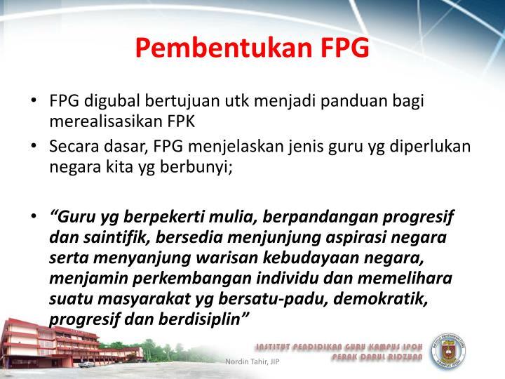 Pembentukan FPG