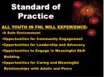 standard of practice