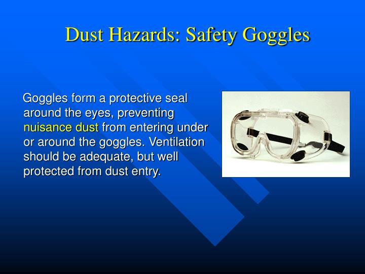 Dust Hazards: Safety Goggles